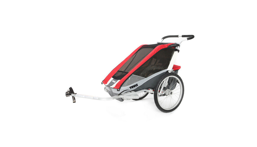 Thule Chariot Cougar 2 + Fahrradset rot